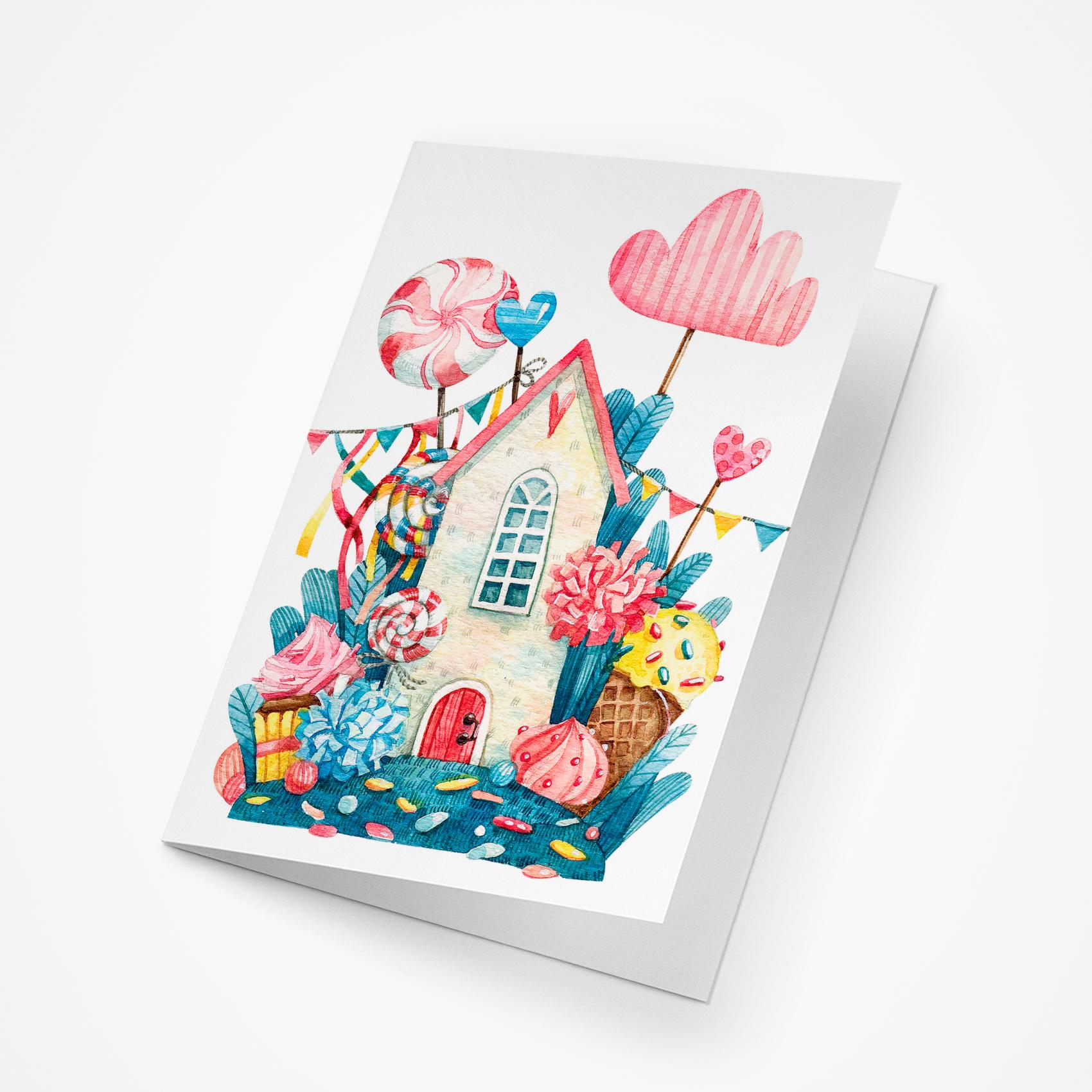 Открытка, сладкий открытка